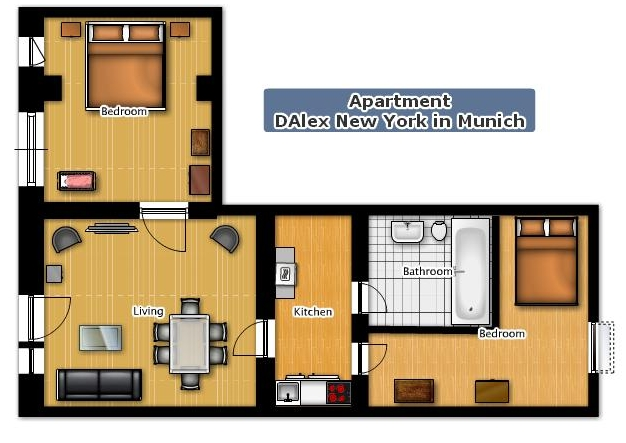 apartment dalex new york in munich